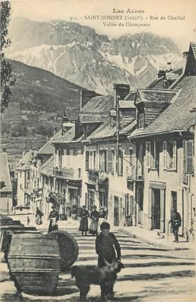 """/ CPA FRANCE 05 """"Saint Bonnet, rue de Chaillol"""""""