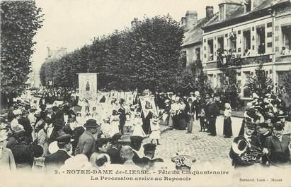 """/ CPA FRANCE 02 """"Notre Dame de Liesse, fête du cinquantenaire"""""""