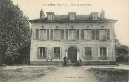 """/ CPA FRANCE 14 """"Annebault, postes et télégraphes"""""""