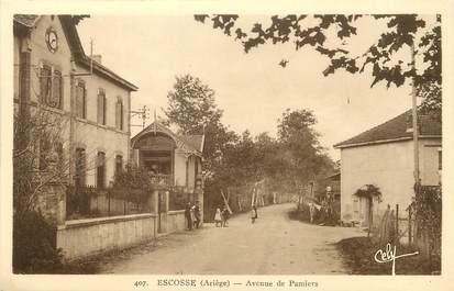 "/ CPA FRANCE 09 ""Escosse, av de Pamiers"""