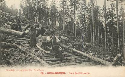 "CPA FRANCE 88 ""Gérardmer, les schlitteurs"""