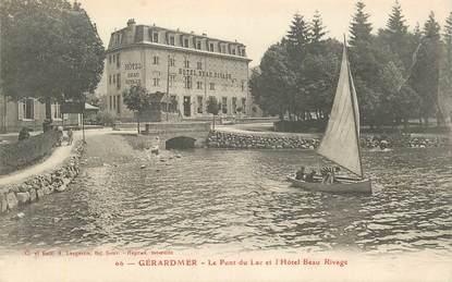 """CPA FRANCE 88 """"Gérardmer, le pont du Lac et l'Hotel Beau Rivage"""""""