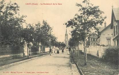 """CPA FRANCE 61 """"Gacé, le boulevard de la gare"""""""