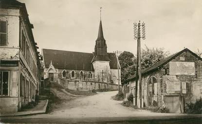 """/ CPSM FRANCE 14 """"La Chapelle Yvon, vue sur l'église"""""""