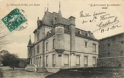 """CPA FRANCE 15 """"Château de Saint Gal"""""""