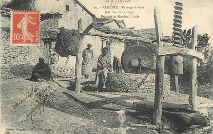 "CPA ALGERIE ""Paysage Kabyle, moulin à huile"""
