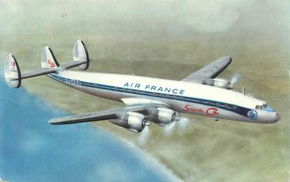 """CPSM AVIATION """"Air France Super G"""""""