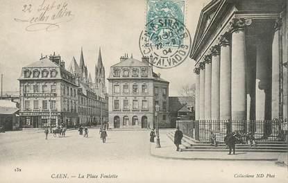 """CPA FRANCE 14 """"Caen, la Place Fontette"""""""