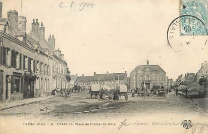 """/ CPA FRANCE 62 """"Etaples, place de l'hôtel de ville"""""""