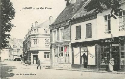 "/ CPA FRANCE 62 ""Hesdin, la rue d'Arras"""