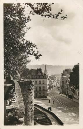 """/ CPSM FRANCE 62 """"Boulogne sur Mer, la grande rue vue des remparts"""""""