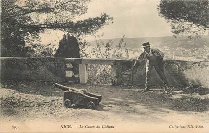 "CPA FRANCE 06 ""Nice, le Canon du chateau"""