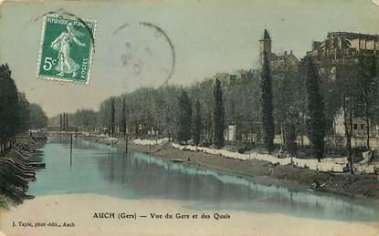 """CPA FRANCE 32 """"Auch, vue du Gers et des quais"""""""