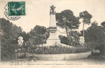 "CPA FRANCE 06 ""Cap Martin, monument aux morts"""