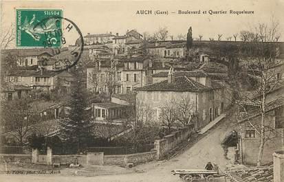 """CPA FRANCE 32 """"Auch, Bld et quartier Roquelaure"""""""