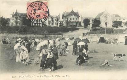 """CPA FRANCE 17 """"Royan Pontaillac, la plage et les villas"""""""