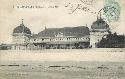 "CPA FRANCE 17 ""Chatelaillon, le casino vu de la mer"""
