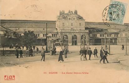 """CPA FRANCE 21 """"Dijon, la gare"""""""