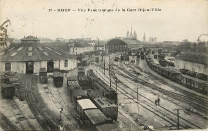 "CPA FRANCE 21 ""Dijon, vue de la gare"" / TRAIN"