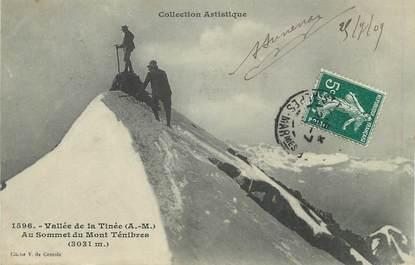"""/ CPA FRANCE 06 """"Vallée de la Tinée au sommet du mont Ténibres"""""""