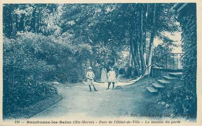 """/ CPA FRANCE 52 """"Bourbonne les Bains, parc de l'hôtel de ville"""""""
