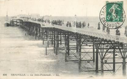 "CPA FRANCE 14 ""Trouville, la Jetée promenade"""