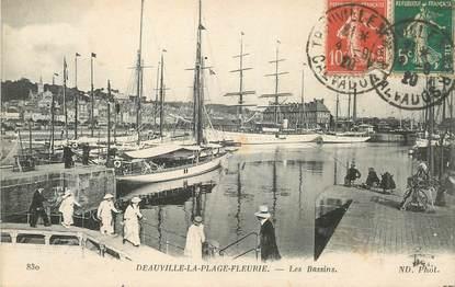 """CPA FRANCE 14 """"Deauville, la Plage fleurie"""""""