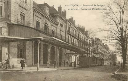 """CPA FRANCE 21 """"Dijon, Bld de Sévigné et gare des tramways"""""""