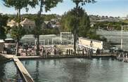 """72 Sarthe / CPSM FRANCE 72 """"Château du Loir, piscine des cheminots, la piscine et les jeux"""""""