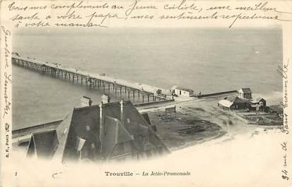 """CPA FRANCE 14 """"Trouville sur Mer, la Jetée"""""""