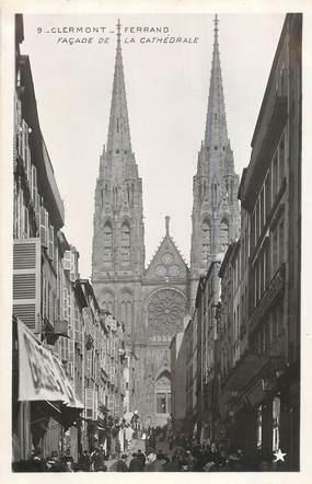 """CPA FRANCE 63 """"Clermont Ferrand, façade de la cathédrale"""" / Ed. ETOILE"""