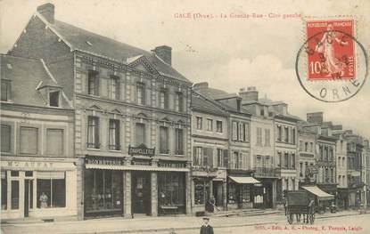 "/ CPA FRANCE 61 ""Gacé, la grande rue côté gauche"""