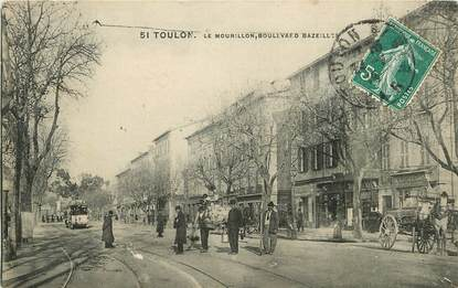 "CPA FRANCE 83 ""Toulon, Le Mourillon, Bld Bazeilles"""