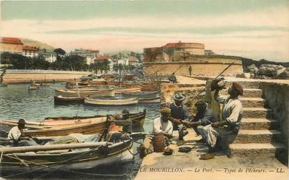 """CPA FRANCE 83 """"Toulon, types de pêcheurs"""""""