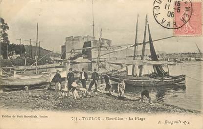 """CPA FRANCE 83 """"Toulon, le Mourillon, la plage"""""""