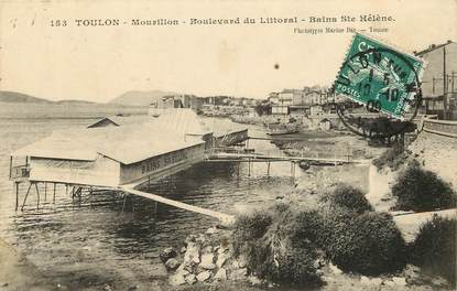 """CPA FRANCE 83 """"Toulon, le Mourillon, bld du Littoral, Bains Sainte Hélène"""""""