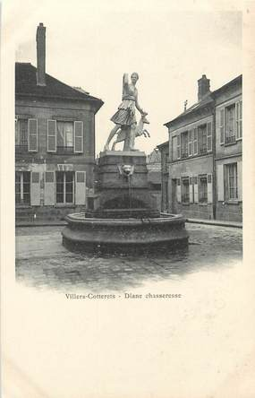 """/ CPA FRANCE 02 """"Villers Cotterets, Diane Chasseresse"""" / STATUE"""