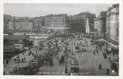 """CPA FRANCE 13 """"Marseille, quai de la fraternité"""" / Ed. ETOILE / TRAMWAY"""