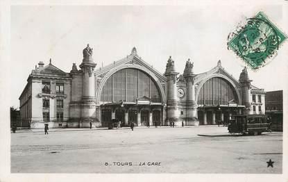 """CPA FRANCE 37 """"Tours, la gare"""" / Ed. ETOILE"""