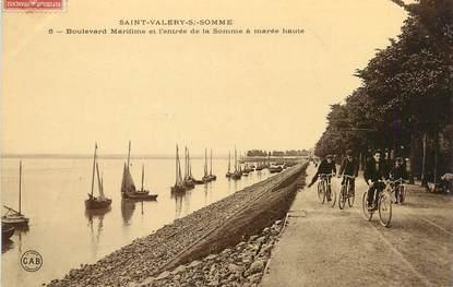 """/ CPA FRANCE 80 """"Saint Valéry Sur Somme, bld Maritime et l'entrée de la Somme à marée haute"""""""