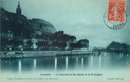 """/ CPA FRANCE 38 """"Grenoble, le couvent de Sainte Marie et le Saint Eynard"""""""