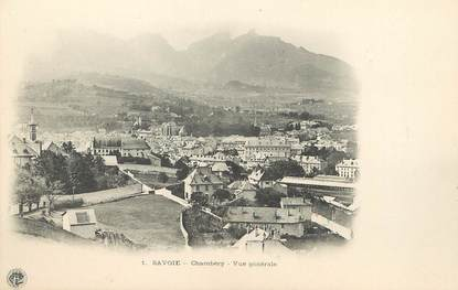 "/ CPA FRANCE 73 ""Chambéry, vue générale"""