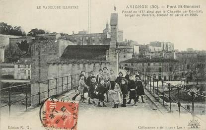 """/ CPA FRANCE 84 """"Avignon, pont Saint Bénézet """""""