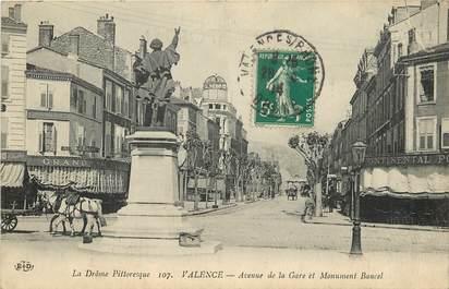 """CPA FRANCE 26 """"Valence, avenue de la Gare"""""""