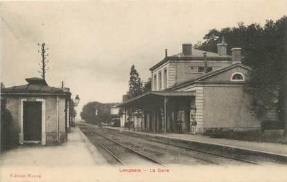 """/ CPA FRANCE 37 """"Langeais, la gare"""""""