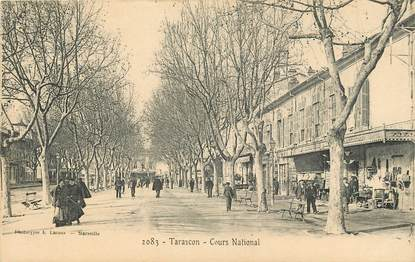 """CPA FRANCE 13 """"Tarascon, cours National"""""""