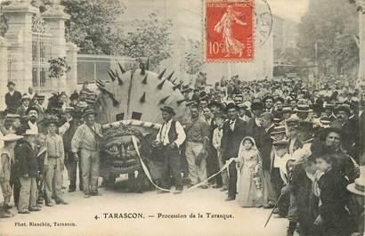 "CPA FRANCE 13 ""Tarascon, procession de la Tarasque"""
