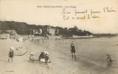 """CPA FRANCE 06 """"Juan les Pins, une vue sur la plage"""""""