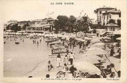 """CPA FRANCE 06 """"Juan les Pins, la plage"""""""