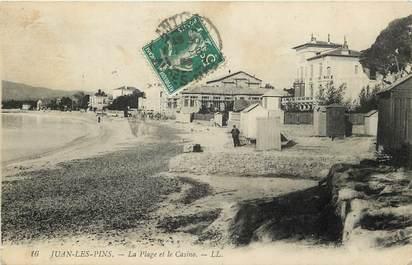 """CPA FRANCE 06 """"Juan les Pins, la plage et le casino"""""""